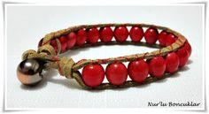 DIY Kırmızı Bileklik / DIY Red Bracelet