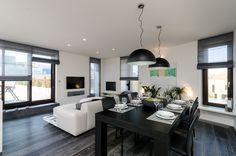 OOOOX | BAAROVA - living room with dark grey wooden floor