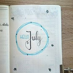 My Bullet Journal Setup for June including habit tracker, monthly log, calendex and many more spreads.