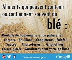 Si vous êtes allergique au blé, ou connaissez quelqu'un qui l'est, faites attention à ces aliments qui contiennent souvent du blé. Falafel, Charcuterie, Les Allergies, Baked Goods, Pay Attention, Food, Falafels