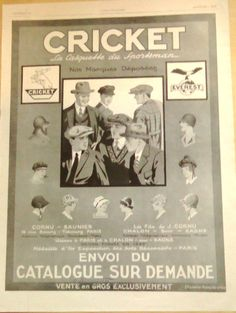 Art Deco Vintage French Ad for Cricket Hats Paris Accessories 1929 by reveriefrance on Etsy