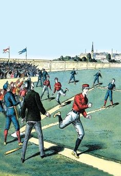 A Towering Fly Ball 20x30 poster