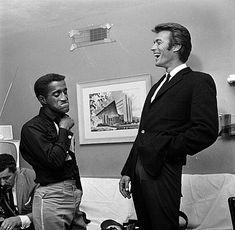 Sammy Davis Jr and Clint Eastwood in Las Vegas, 1959