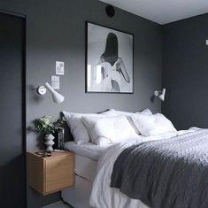 99 White And Grey Master Bedroom Interior Design Grey Bedroom Design, Master Bedroom Interior, Gray Bedroom, Modern Bedroom, Dark Grey Bedrooms, Bedroom Ideas Grey, Bedroom Designs, Grey Interior Design, Male Bedroom Decor