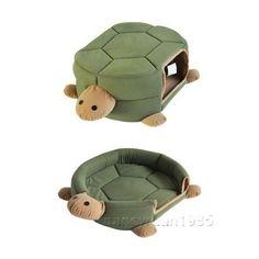 Pretty Green Turtle Shape Pet Cat Dog Bed House Cushion Mat 2 Uses Medium on eBay!