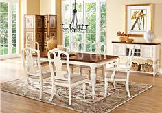 Shop for a Cindy Crawford Home  Heatherwoods Bisque  5 Pc Leg Dining Room at Rooms To Go. Find Dining Room Sets that will look great in your home and complement the rest of your furniture.