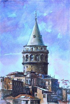 Ömer Muz'dan.... Ömer Muz ile suluboya resim çalışmaları Hobi Sanat Merkezi'nde...