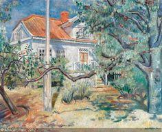 Arne Kavli – The house On Land House With Land, European Paintings, Edgar Degas, Impressionist, 19th Century, Modern Art, Scandinavian, Prints, Art