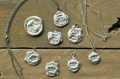 Metal Jewelry DIY Silver Stamped Jewelry - Stamped solder pendants: How to make stamped molten solder pendant jewelry using a Bernzomatic torch. Amber Jewelry, Metal Jewelry, Pendant Jewelry, Diy Jewelry, Handmade Jewelry, Jewelry Design, Jewelry Making, Silver Jewelry, Silver Ring