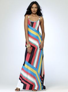 NWT Sexy CACHE Stretch Maxi Long Summer Dress Cruise - Party   L  10 - 12 #CACHE #Maxi #SummerBeach