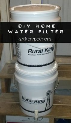 If there's an emergency and clean water doesn't come out of your faucet, your family will be glad you prepared and built a DIY Water Filter.