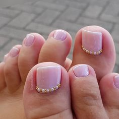 Pretty Toe Nails, Cute Toe Nails, Gorgeous Nails, Pedicure Designs, Pedicure Nail Art, Toe Nail Designs, French Pedicure, Toe Nail Color, Toe Nail Art