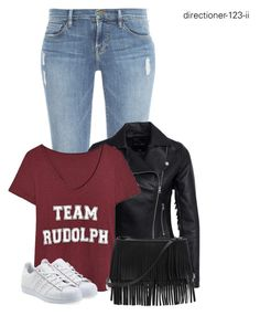 """""""Untitled #1524"""" by directioner-123-ii ❤ liked on Polyvore featuring Frame Denim, New Look, adidas Originals, White House Black Market and FFfatifashion"""