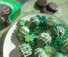 Thin Mint Truffles are a delicious way to use Thin Mints and it's a fabulous St. Patrick's Day dessert
