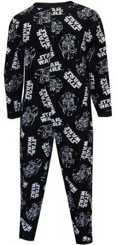 Star Wars Darth Vader Black Fleece Union Suit Pajama
