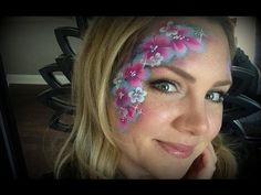 When you think about face painting designs, you probably think about simple kids face painting designs. Many people do not realize that face painting designs go Face Painting Flowers, Face Painting Tips, Face Painting Tutorials, Belly Painting, Face Painting Designs, Painting For Kids, Paint Designs, Face Paintings, Flower Step By Step