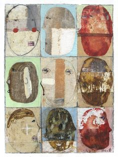 "# 3477 ""Down On Our Luck"" by Scott Bergey Via Flickr: 12 x 9 , mixed media…"