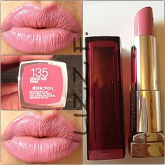 Maybelline - Make Me Pink No. 135: I want to be pretty in pink with this color.