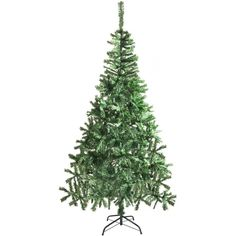Unlit Artificial Christmas Tree 6.8 Ft Xmas Trees Holiday Decoration, Green  #ALEKO