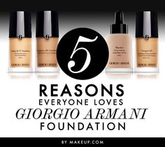 Now we know why everyone LOVES the Giorgio Armani foundations. And it doesn't hurt that they're all 20% off!