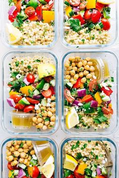 20 Healthy Recipes You Can Meal Prep This Week A delicious and healthy Greek couscous salad that everyone will go crazy for Meal prep options and tips included via chelseasmessyapro healthy salad couscous Healthy Diet Recipes, Healthy Meal Prep, Vegetarian Recipes, Healthy Eating, Healthy Options, Healthy Vegetarian Lunch Ideas, Veggie Meal Prep, Keto Recipes, Zone Recipes