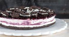 Cheesecake με γεμιστά μπισκότα