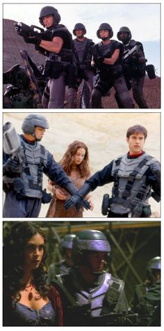 """These pieces of armor were used in """"Starship Troopers"""" """"Power Rangers"""" and then in an episode of """"Firefly. Fiction Movies, Science Fiction, Power Rangers Lost Galaxy, Marvel Cosplay Girls, Recycled Costumes, Future People, Arte Nerd, Tv Themes, Disney Jokes"""