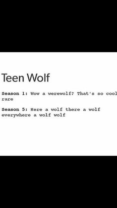 Season 2:Ok a Kanima 3A: wtf is a darach and a some alpha twins who form Voltron wolf 3B: Kitsune, Nogitusene, ONI wth 4: were jaguar, bazzerkers and a mute wth 5: OK WTF IS A HELLHOUND, A DREAD DOCTOR BECON HILL WTF