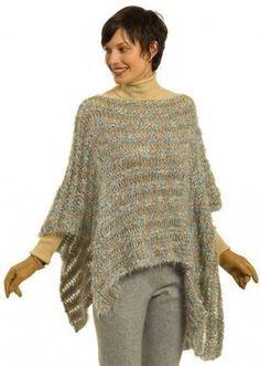 Lavori a maglia: Poncho - hobby creativi....fai da te