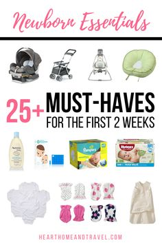 Expecting a baby? Check out this list of newborn essentials that has everything you need to be prepared to bring your sweet baby home! via Christina | Heart, Home & Travel