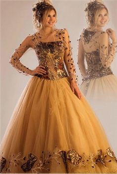 Vestido de quince en dorado - Amazing golden fifteen dress