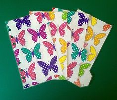 Filofax-Personal-Planner-Dividers-Spotty-Butterflies-set-of-4-Laminated Planner Dividers, Organisers, Office Organization, Filofax, Planners, Butterflies, Ebay, Organization, Binder Dividers