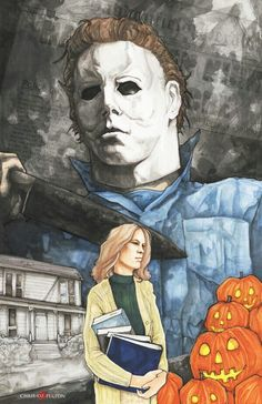 It was the boogeyman. Michael Myers 26 hours Copic marker Watercolor Photoshop Checkout my other work---> . Horror Posters, Horror Films, Horror Art, Halloween Film, Halloween Horror, Halloween Queen, Halloween Images, Fall Halloween, Happy Halloween