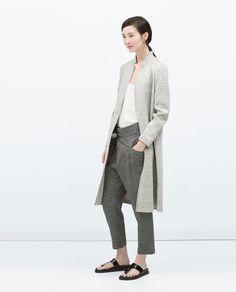 Image 1 of VELOUR COAT from Zara