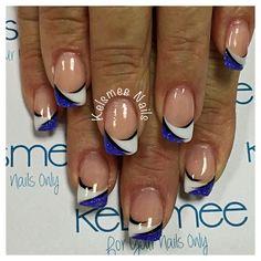 Френч с рисунком: новинки дизайна ногтей 2018 на фото. Красивый двойной френч с рисунком на короткие ногти. Френч на одном пальце 2018 на фото.