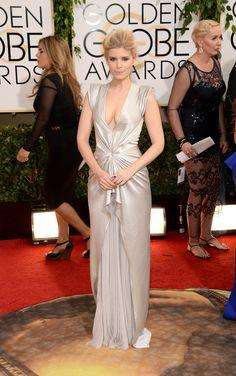 Kate Mara | Fashion On The 2014 Golden Globes Red Carpet