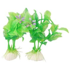 Jardin Plastic Aquascaping 10-Piece Aquarium Plants with Ceramic Base, 4.3-Inch, Green *** You can get more details by clicking on the image.