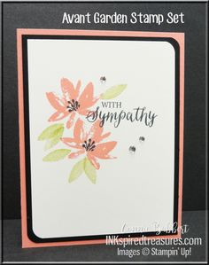 """Our theme for this week's Create with Connie and Mary Saturday Blog Hop is """"Sympathy or Encouragement cards""""! I know I make a lot of these types of cards for friends and f…"""
