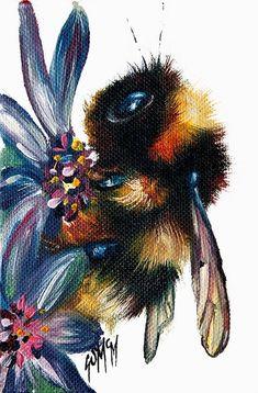 Brian II (Limited Edition) by Georgina McMaster - Art Prints Gallery Animal Art Prints, Animal Drawings, Art Drawings, Bee Painting, Painting & Drawing, Painting Inspiration, Art Inspo, Bee Art, Framed Art Prints