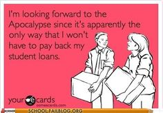 Educational loan payments can be quite a pain in the butt.