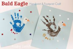 Bald Eagle Handprint and Footprint Craft ~ Reading Confetti