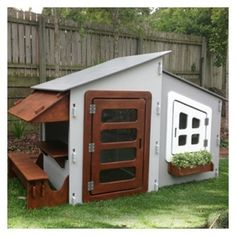 A. Easy Modern Cubby House JBH001 with extra room and cafe - UNPAINTED!