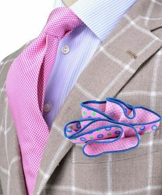 Andrea Campagna Beige with Cream Windowpane Sportscoat Sharp Dressed Man, Well Dressed Men, Mens Fashion Suits, Mens Suits, Men's Fashion, Tie And Pocket Square, Pocket Squares, Suit And Tie, Gentleman Style