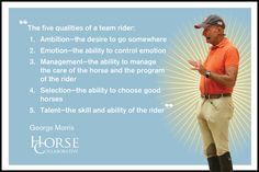 More Enlightening George Morris Quotes to Further Your Equestrian Education ~ HorseCollaborative