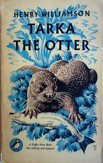 Henry Williamson - Tarka the Otter, Puffin PS 60 (on first page erroneously see comments), first Penguin several reprints up to first Puffin this reprint Cover and illustrations C. Book Cover Art, Book Cover Design, Book Design, Book Art, Vintage Book Covers, Vintage Children's Books, Caricatures, Ladybird Books, And So It Begins
