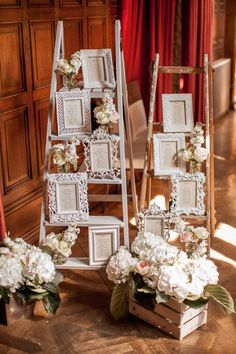 This amazing roundup of wooden ladder wedding decor ideas will get your creative juices flowing. Be it as hanging centerpieces, food displays, backdrops or wedding arches, these top wooden ladder decorating ideas are fast, affordable and ultra chic! Star Wedding, Diy Wedding, Wedding Events, Rustic Wedding, Wedding Ideas, Trendy Wedding, Wedding Favors, Weddings, Wedding Entrance Table