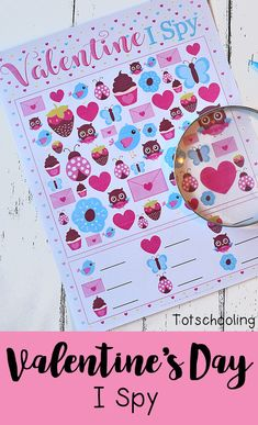 FREE printable I Spy game for Valentine's Day fun. Perfect no-prep counting activity for preschool and kindergarten. Kids will love finding the adorable images that come in different sizes, making it a challenging visual discrimination activity. Valentines Games, Valentine Theme, Valentines Day Activities, Valentines Day Party, Valentines For Kids, Valentine Day Crafts, Valentines Crafts For Kindergarten, Counting Activities, Preschool Activities