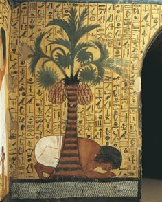 Egypt, Dayr al-Madinah, Tomb of Pashedu, Mural painting of man praying
