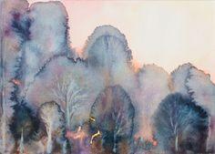 Buy Subtile forest - watercolor, Aquarelles by Fabienne Monestier on Artfinder…
