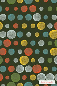 Pixtil studio® pattern dots moon color #light black design textile creative coding www.pixtil-studio.fr